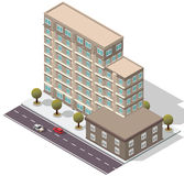 Vector Isometric Hotel Apartment Building Royalty Free Stock Photos
