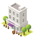 Vector isometric hotel Stock Image