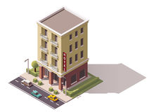 Vector isometric hotel building Royalty Free Stock Photo