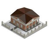 Vector isometric house Royalty Free Stock Photo