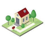 Vector isometric house Royalty Free Stock Photos
