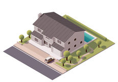 Vector isometric house Stock Photos