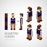 Vector isometric human set. Icon vector illustration Stock Photos