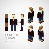 Vector isometric human set. Icon vector illustration Stock Images