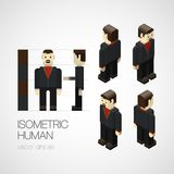 Vector isometric human set. Icon vector illustration Royalty Free Stock Photography