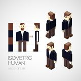 Vector isometric human set Royalty Free Stock Image