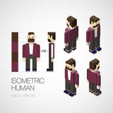 Vector isometric human set. Vector illustration EPS 10 Stock Photography
