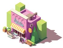 Vector isometric ice cream shop Stock Photos