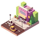 Vector isometric ice cream shop Royalty Free Stock Photography