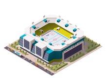 Vector isometric ice hockey arena Royalty Free Stock Photography