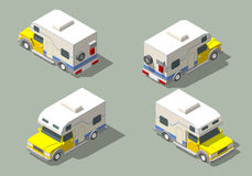 Vector isometric icon of camper Royalty Free Stock Photography