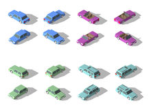 Vector isometric icon set transport. Royalty Free Stock Images