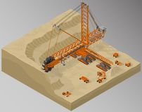 Equipment for high-mining industry. Stock Photos