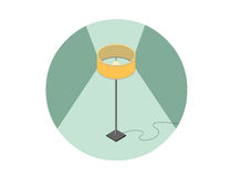 Vector isometric illustration of floor lamp, 3d flat interior design element. Royalty Free Stock Photography