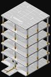 Multi storey car park. Vector isometric illustration of a multi-level parking garage. Multi storey car park Stock Image