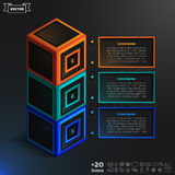 Vector isometric infographic with colorful cubes. Stock Images