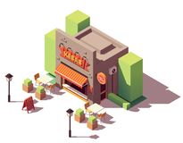 Vector isometric kebab shop Stock Photos