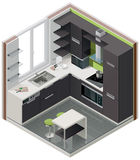 Vector isometric kitchen icon Royalty Free Stock Photos