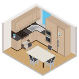 Vector isometric kitchen interior Stock Photo