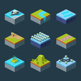 Vector of Isometric Landscape Royalty Free Stock Images