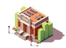 Vector isometric library building Stock Photos