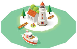 Vector isometric lighthouse Stock Photography
