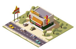 Vector isometric liquor store Royalty Free Stock Photography