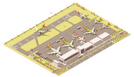 Free Vector Isometric Low Poly Airport Terminal Building Royalty Free Stock Photo - 73493365