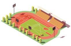 Vector isometric low poly athletics stadium Royalty Free Stock Image