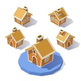 Low poly Gingerbread House Stock Photo