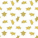 Christmas Star tree topper pattern. Vector isometric low poly Christmas toy - Star tree topper. Seamless background Stock Photos