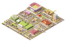Vector Isometric Low Poly City Royalty Free Stock Photos