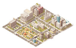 Vector isometric low poly city Royalty Free Stock Photography