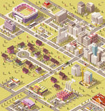 Vector isometric low poly city Royalty Free Stock Images