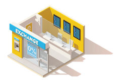 Vector isometric low poly currency exchange Stock Photo