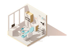 Vector isometric low poly dental office Royalty Free Stock Photography