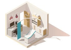 Vector isometric low poly doctors office icon Stock Images