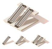 Vector isometric low poly escalator Stock Photos