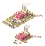 Vector isometric low poly factory Stock Photos