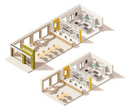 Vector isometric low poly fast food restaurant Stock Photography