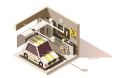 Vector isometric low poly garage icon vector illustration