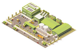 Vector isometric low poly garbage recycling center Royalty Free Stock Photos