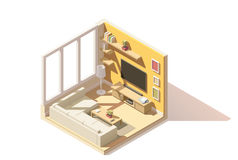 Vector isometric low poly living room icon Royalty Free Stock Photos