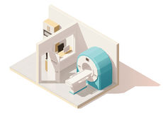 Vector isometric low poly MRI room icon Stock Image