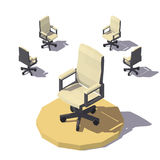 Vector isometric low poly Office chair vector illustration