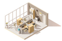 Vector isometric low poly office room Stock Image
