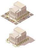 Vector isometric low poly Opera house Stock Photography