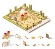 Vector isometric low poly playground icon Stock Image