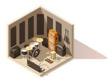 Vector isometric low poly recording studio icon royalty free illustration