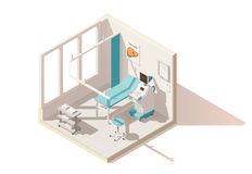 Vector isometric low poly ultrasound room Royalty Free Stock Photography
